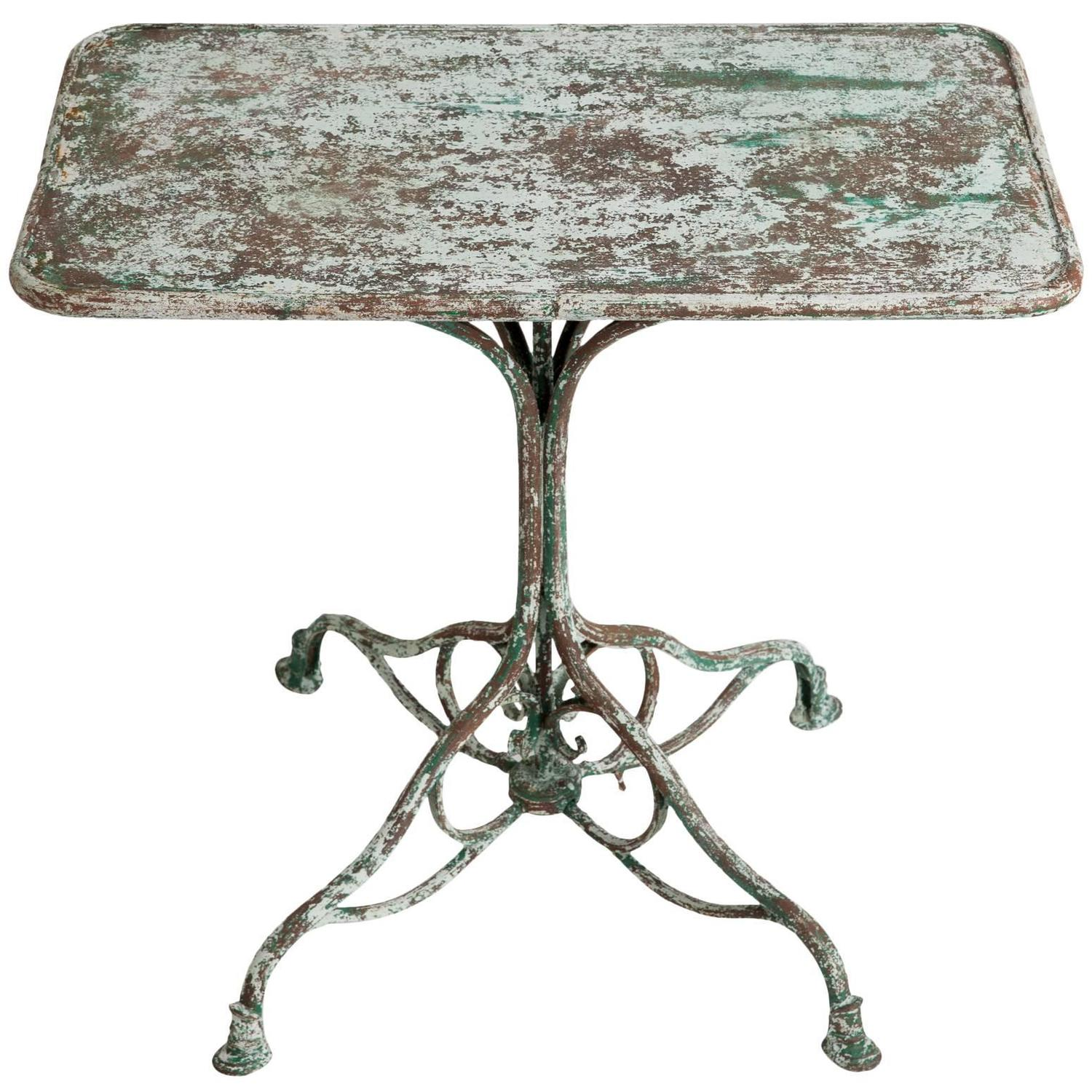 antique cast iron garden table and chairs pillow for office chair french wrought from arras circa