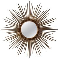 French Gilt Sunburst or Starburst Mirror by Chaty ...