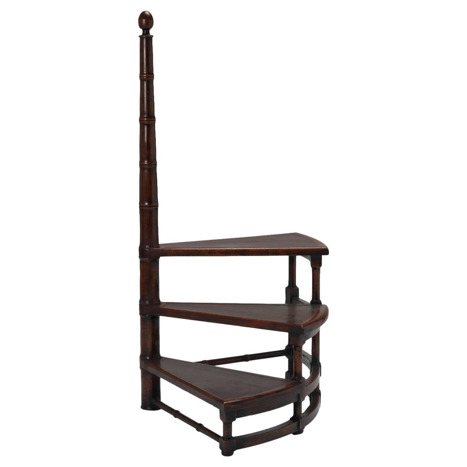 library chair ladder plans picnic time portable folding sports spiral steps for sale at 1stdibs