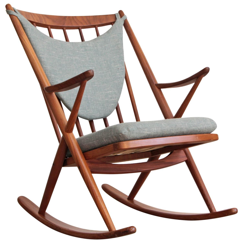 danish modern rocking chair flip out sleeper frank reenskaug teak at 1stdibs