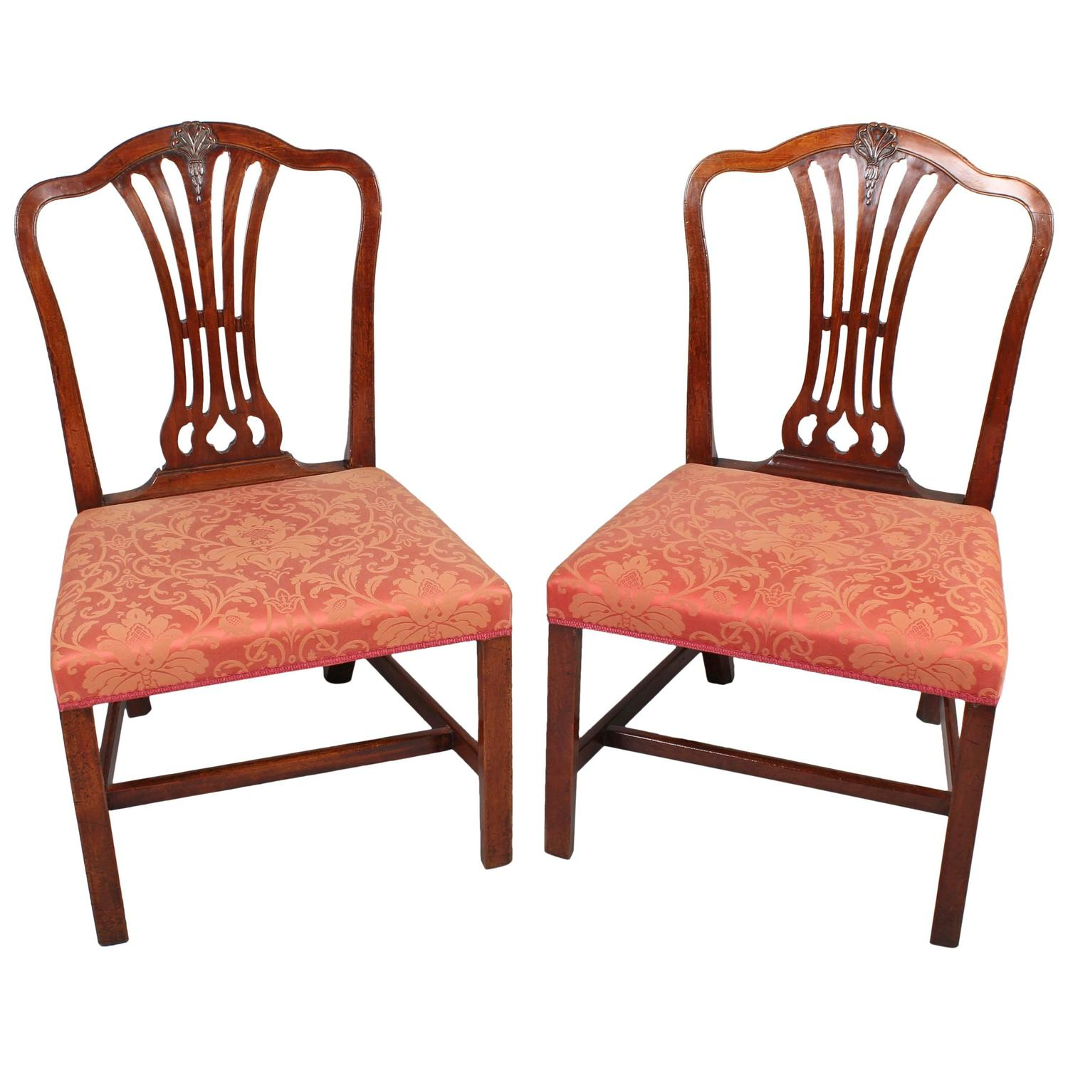 Hepplewhite Chair Pair Of George Iii Period Mahogany Side Chairs In The