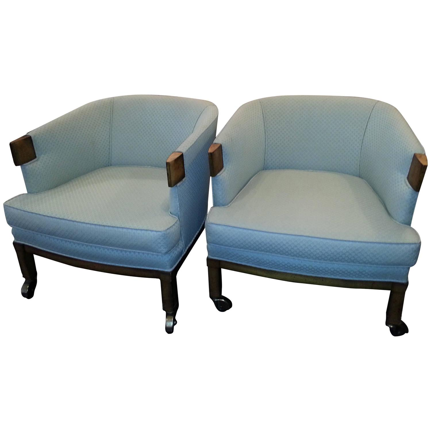 mid century modern cane barrel chairs desk chair target no wheels pair of at 1stdibs