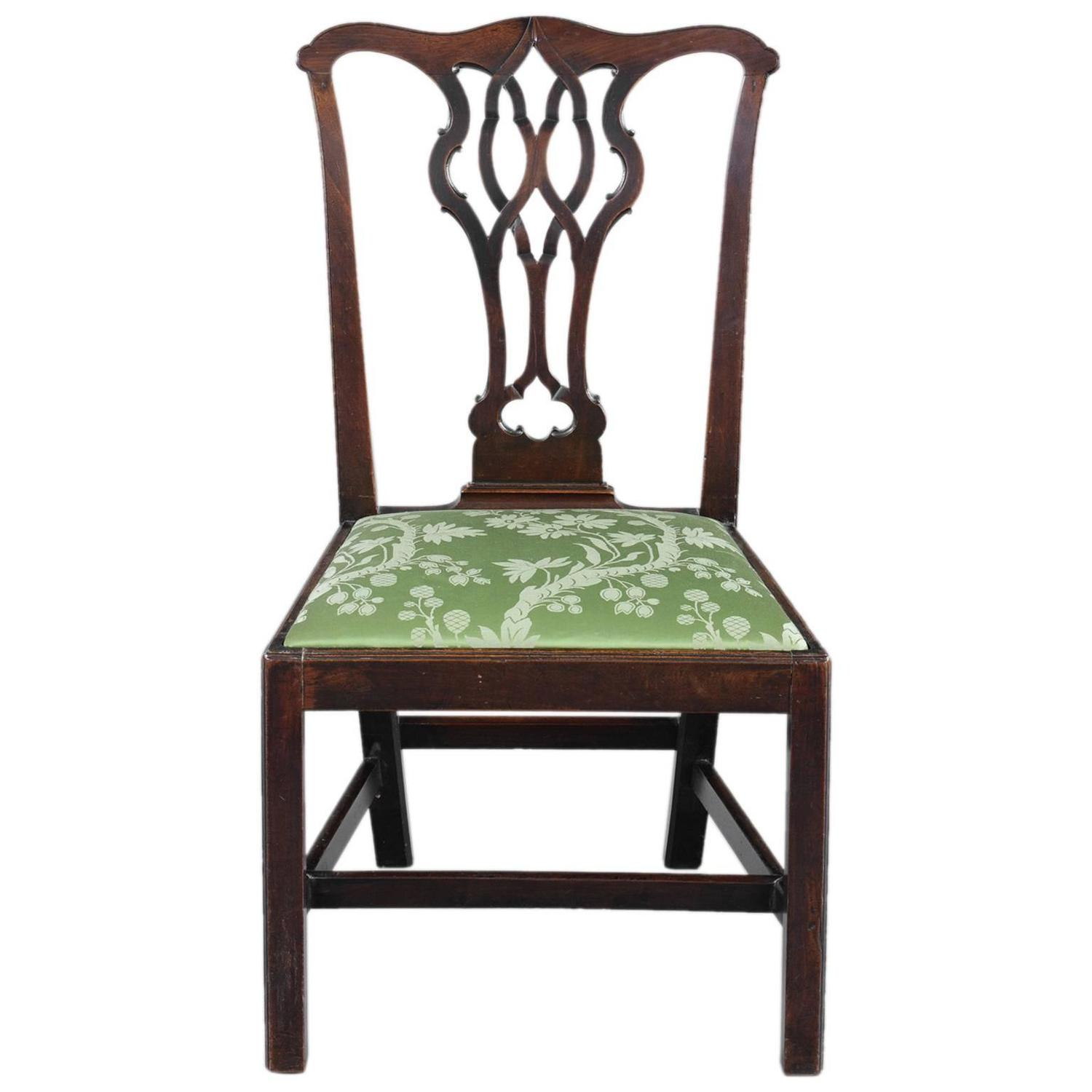 chippendale rocking chair me too portable high english antique side at 1stdibs