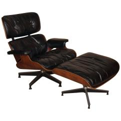 Charles Eames Lounge Chair Gold Office And Ray Ottoman At 1stdibs