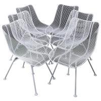 Woodard Mid-Century Modern Wire Mesh Chairs at 1stdibs