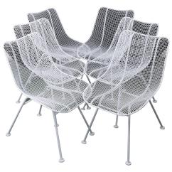 Mid Century Modern Wire Chair Cheap Lounge Cushions Woodard Mesh Chairs At 1stdibs