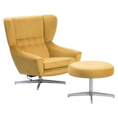Swivel Chair And Ottoman Used Barber Chairs Danish With At 1stdibs