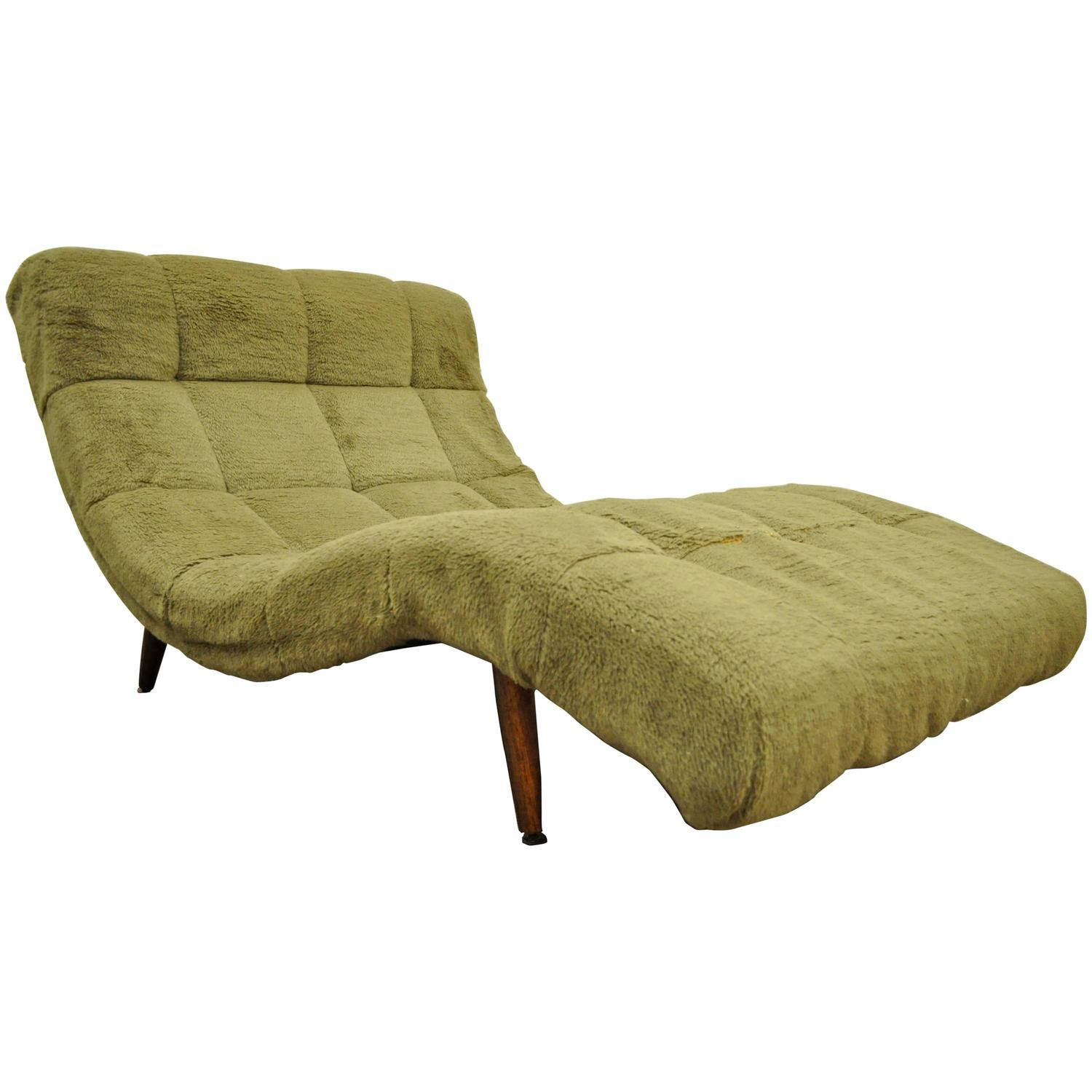 pictures of chaise lounge chairs graco contempo high chair reviews mid century modern double wide green wave attr to adrian pearsall for sale at 1stdibs