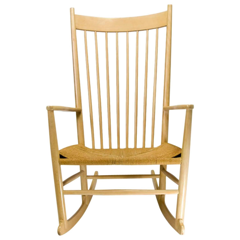 danish modern rocking chair avenue six vintage by hans j wegner at