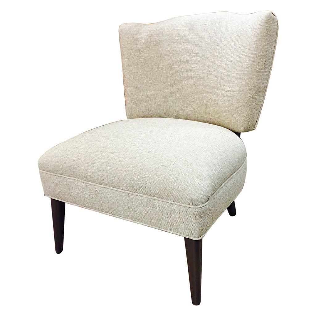 modern slipper chair folding rental austin mid century at 1stdibs