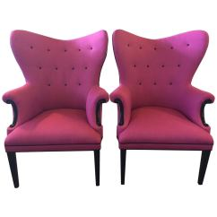 Hot Pink Chair Revolving Hof Wingback And Black Linen Chairs Only One