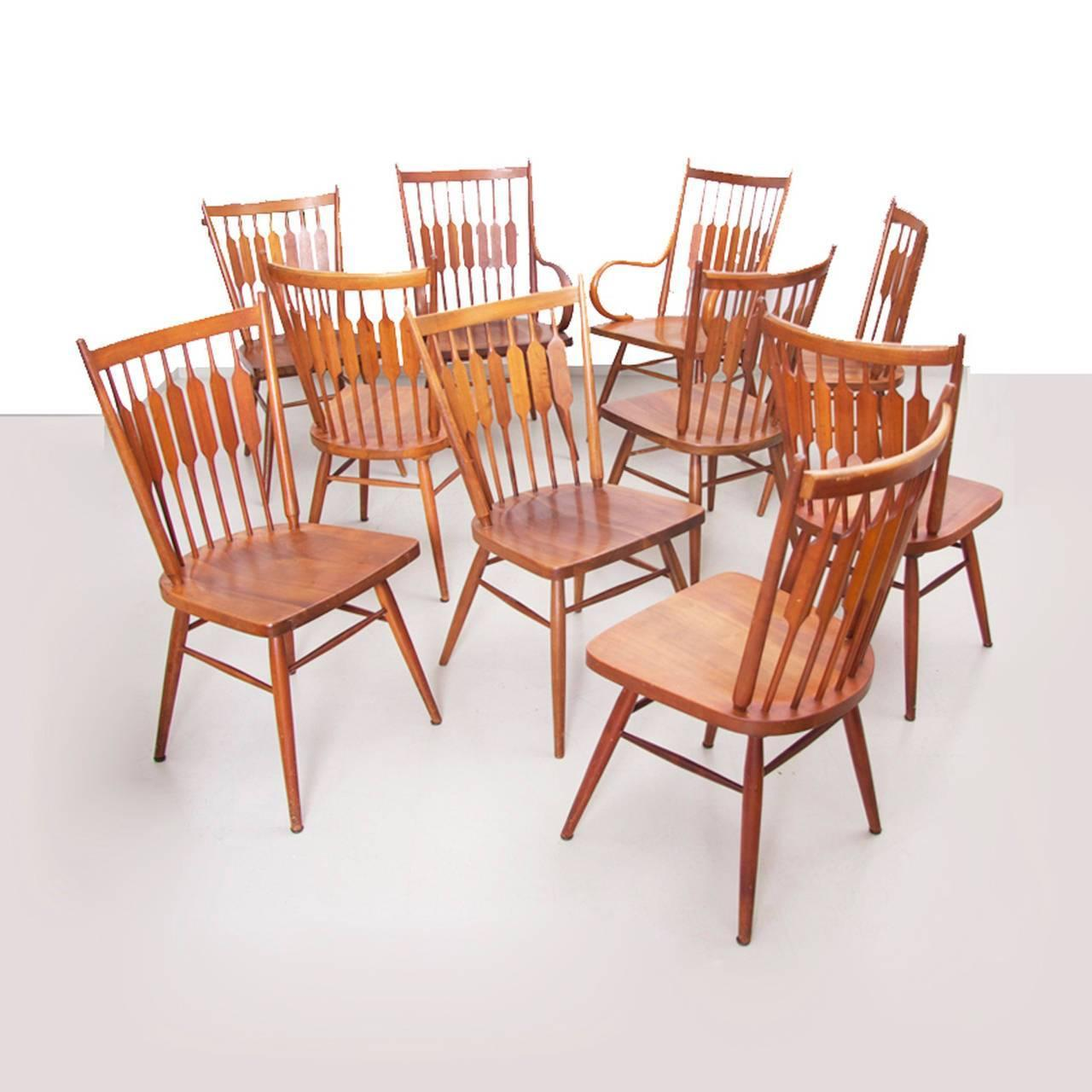 Drexel Chairs Set Of Ten Kipp Stewart For Drexel Quotcentennial Quot Chairs For
