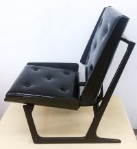 Bentwood and Leather Danish Sleigh Lounge Chair For Sale ...