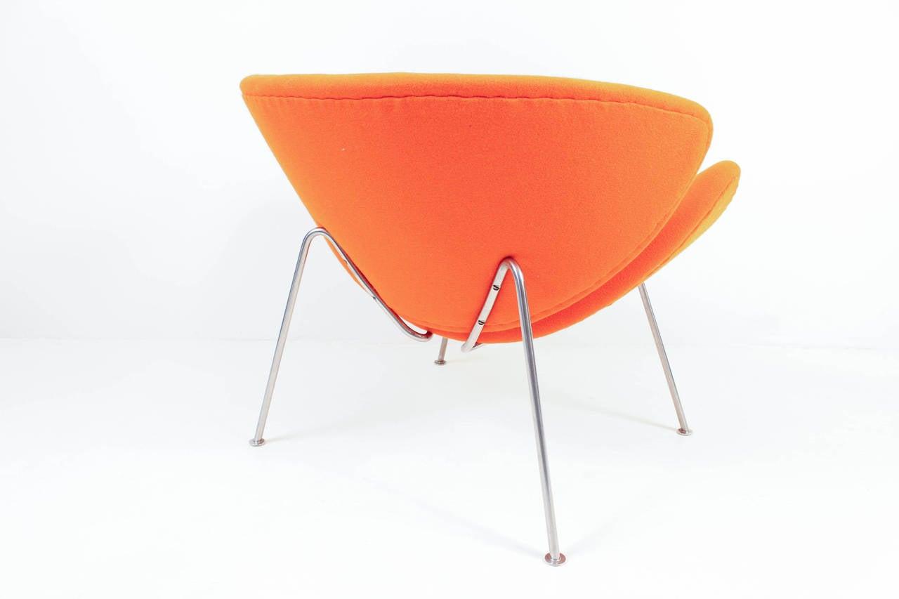 orange slice chair metal bedroom vintage f437 by pierre paulin for