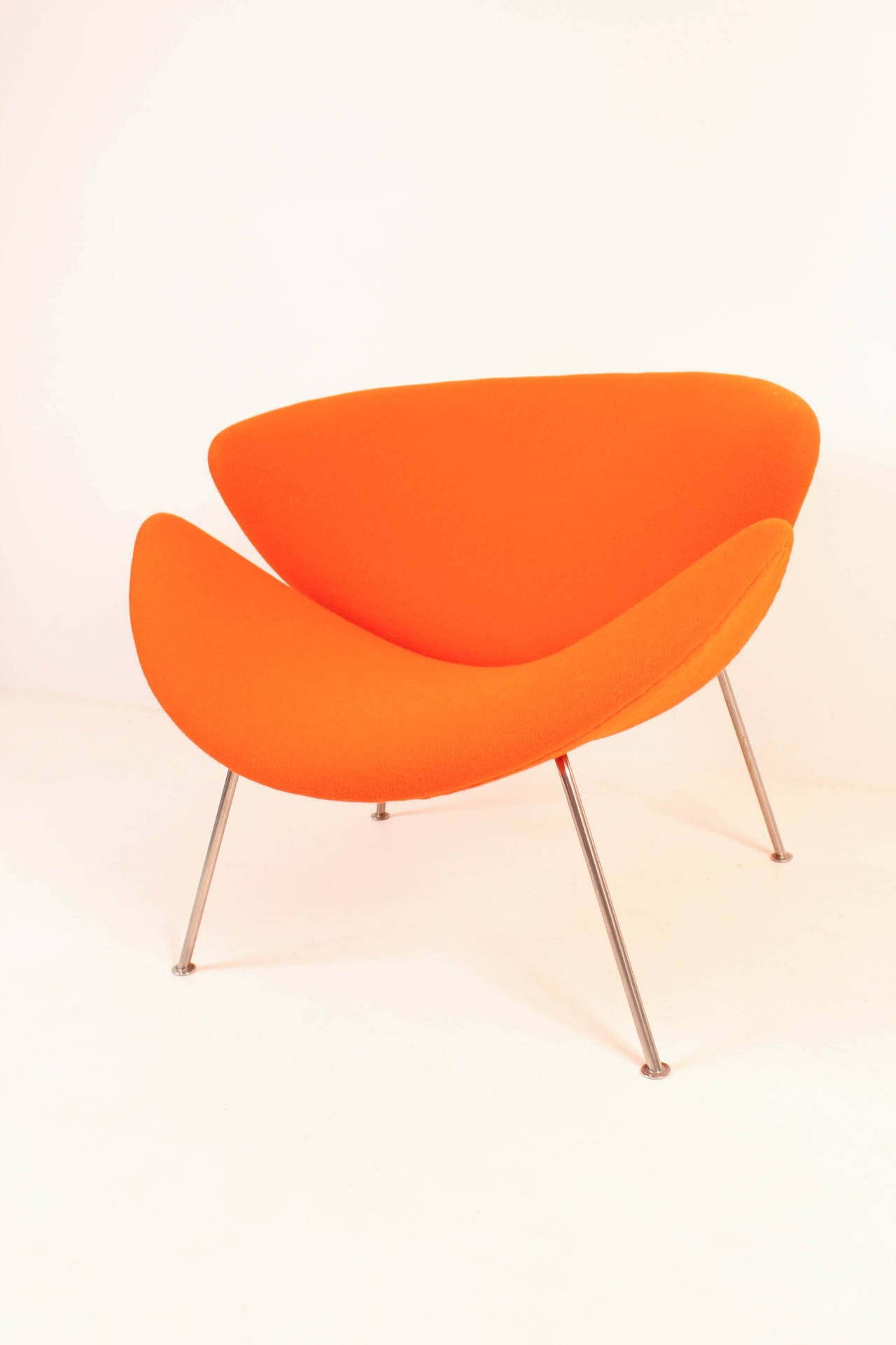orange slice chair outdoor chairs world market vintage f437 by pierre paulin for