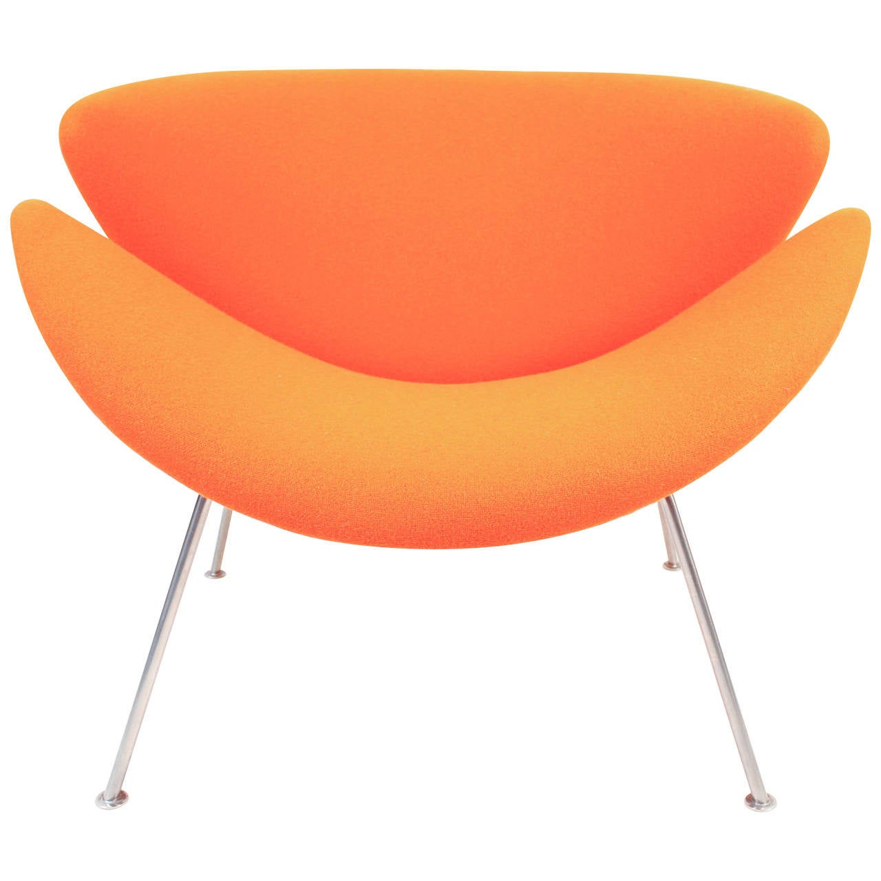 orange slice chair office back pain vintage f437 by pierre paulin for