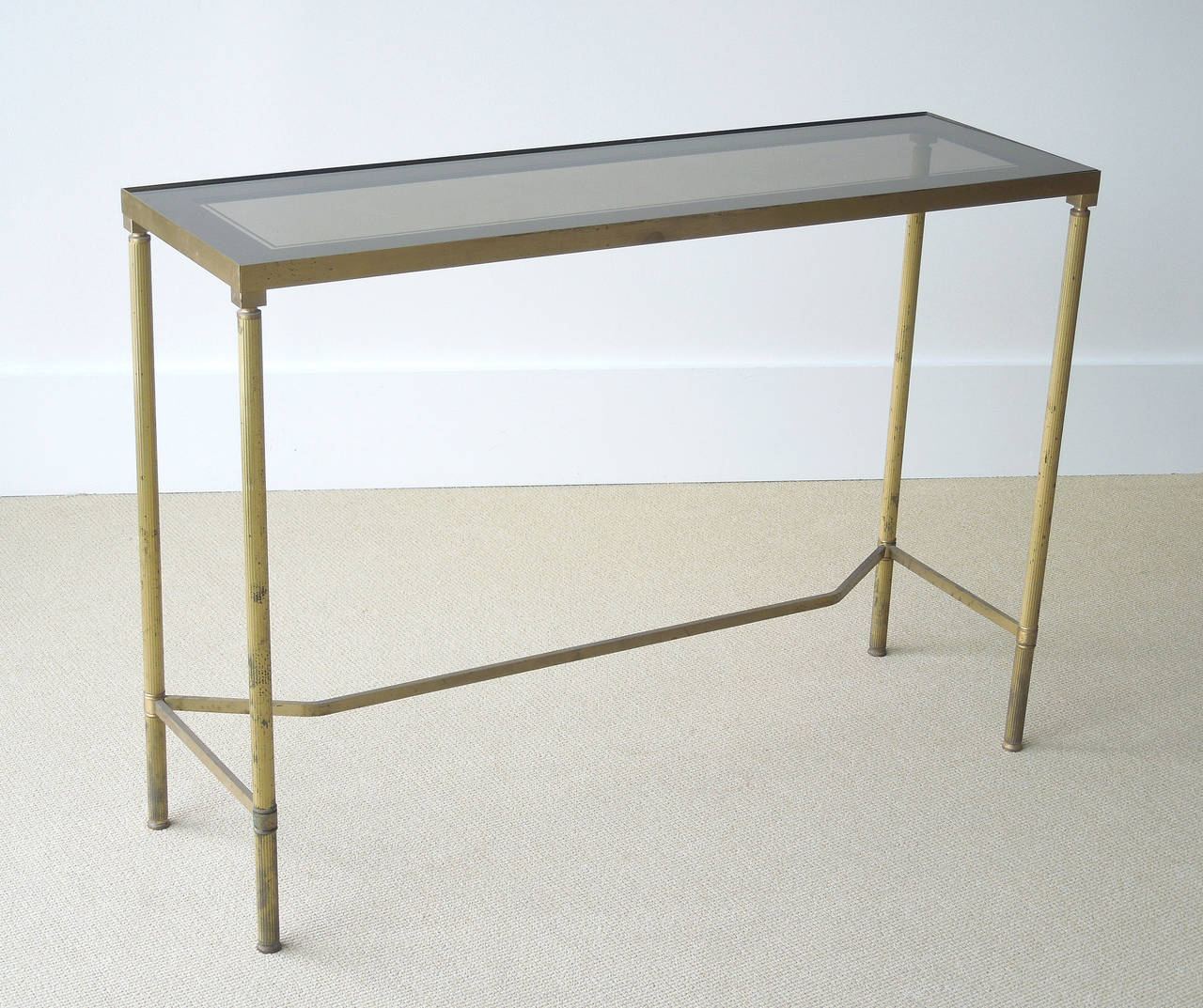 very small sofa table bensen sleeper queen narrow french brass console at 1stdibs