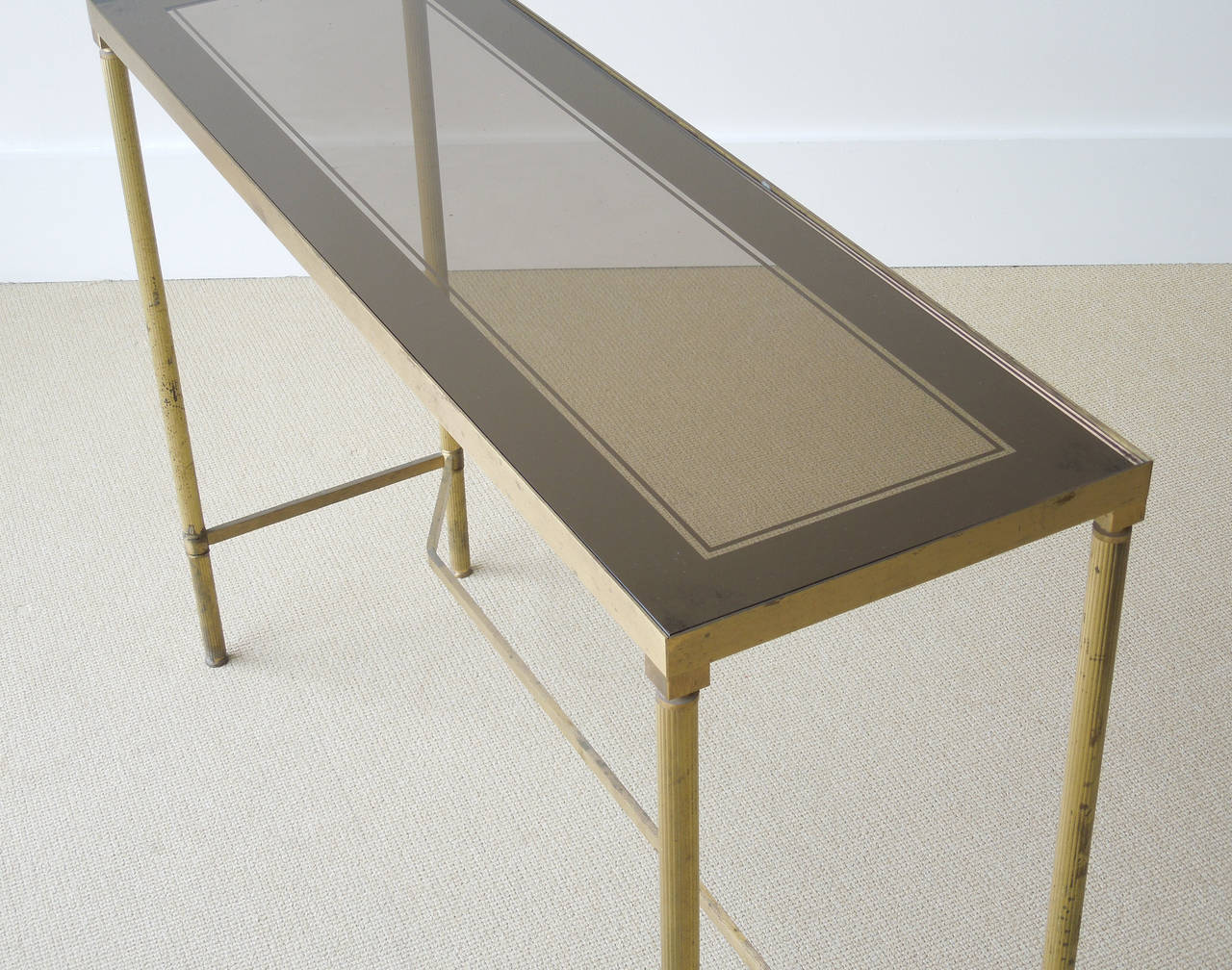 very small sofa table air lounge bed bangalore narrow french brass console at 1stdibs