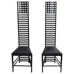 High Backed Chair White Directors Chairs Australia Art Nouveau Style Back Wood Pair At 1stdibs