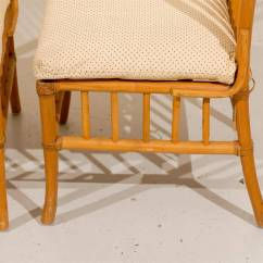 Antique High Back Wicker Chairs Folding Camping Lovely Set Of Six Vintage Rattan Dining
