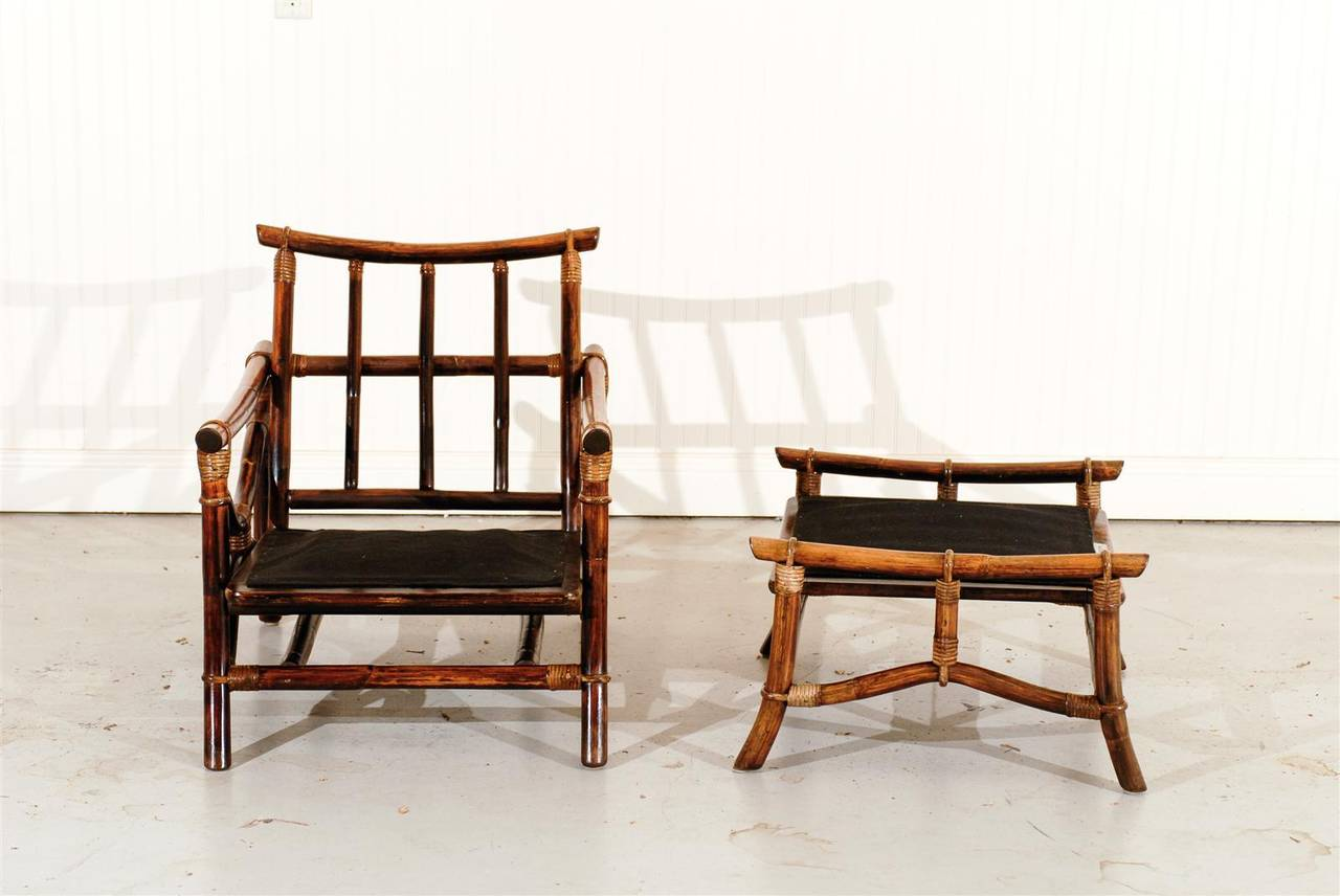 ficks reed chair design classics superb pair of vintage rattan lounge chairs