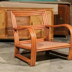 Ficks Reed Chair Big Joe Lounge Pair Of Vintage Rattan Club Chairs In The Style