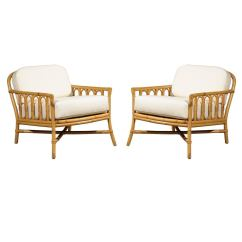Fancy Accent Chairs Office Club Decorative Pair Of Vintage Rattan Lounge By Ficks