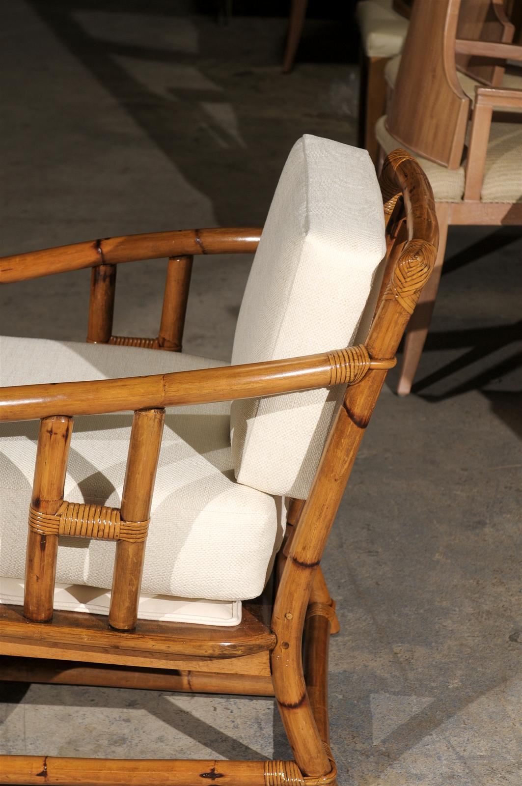 ficks reed chair lawn chairs amazon superb pair of restored vintage lounge or club