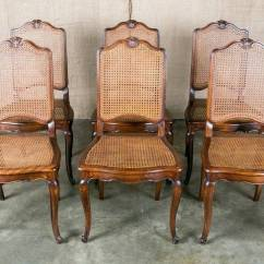 Antique Dining Chair Leg Styles Rolling Ride Atlantic City Set Of 6 French Louis Xv Style Cane Chairs At 1stdibs