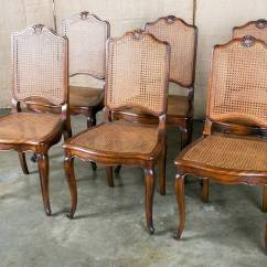 Cane Dining Chairs For Sale Wheel Chair Cost In India Set Of 6 French Louis Xv Style At 1stdibs