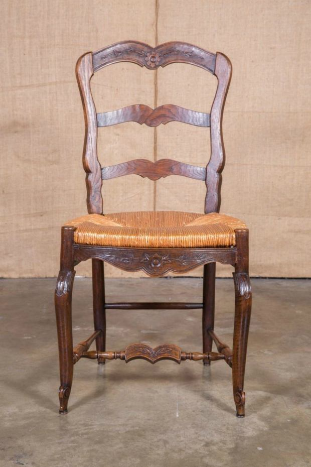 Antique Ladderback Chair Ladder Back With Rush Seat Old Wooden - Antique Ladder Back Chairs Rush Seats - Best Ladder 2018