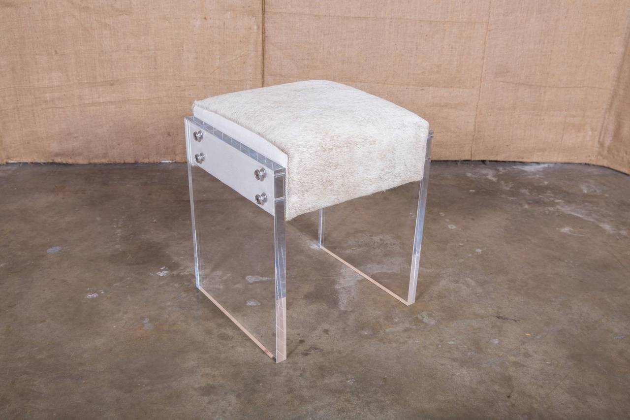 Clear Vanity Chair Coco Lucite Vanity Stool For Sale At 1stdibs