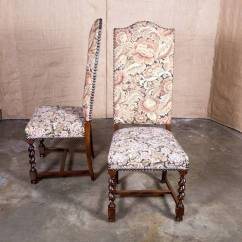 Barley Twist Chair Black White Dining Set Of Eight French Louis Xiii Style