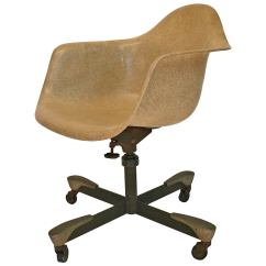 Herman Miller Rolling Office Chair Stools With Arms Eames Fiberglass For At 1stdibs
