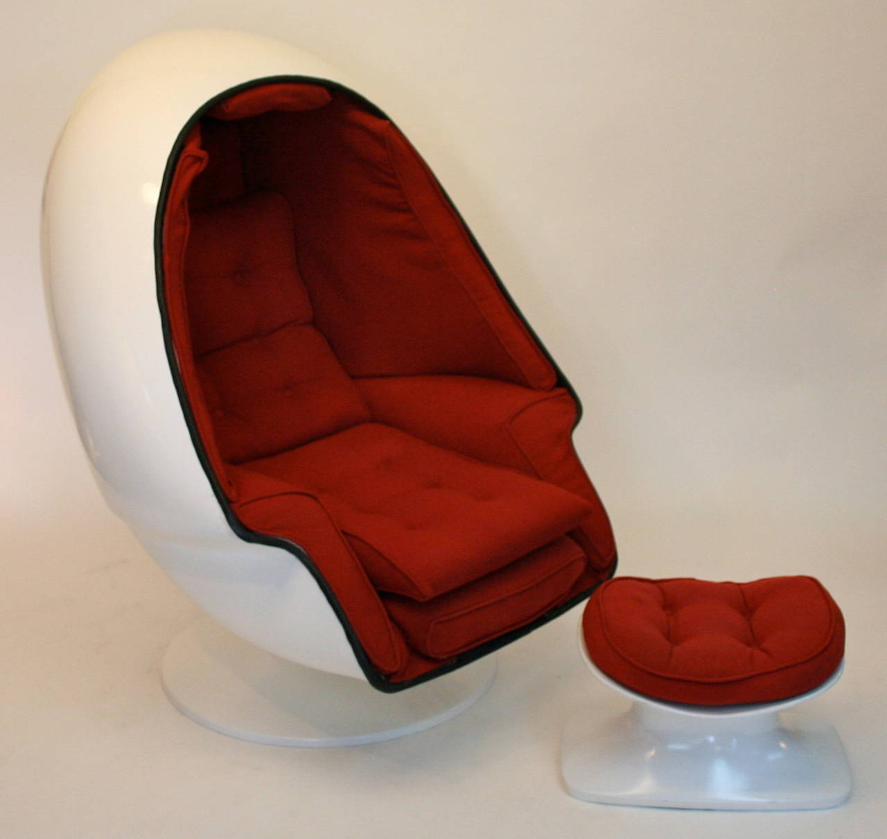 Egg Chair With Speakers Rare Tony Casello Associates Egg Chair And Ottoman For