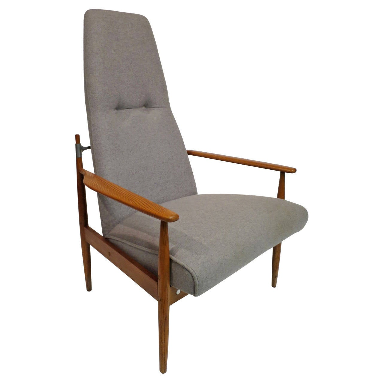 High Back Lounge Chair Mid Century Modern High Back Lounge Chair At 1stdibs