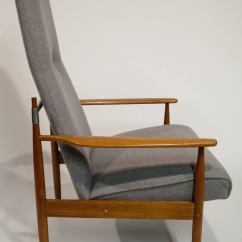 High Back Contemporary Chairs White Outside Mid Century Modern Lounge Chair At 1stdibs