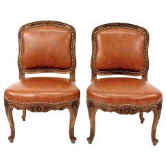 American Leather Swing Chair Lazy Boy Oversized Recliner Chairs Pair Of French Louis Xv Style Slipper By