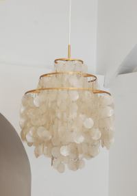 Capiz Shell Chandeliers by Verner Panton at 1stdibs