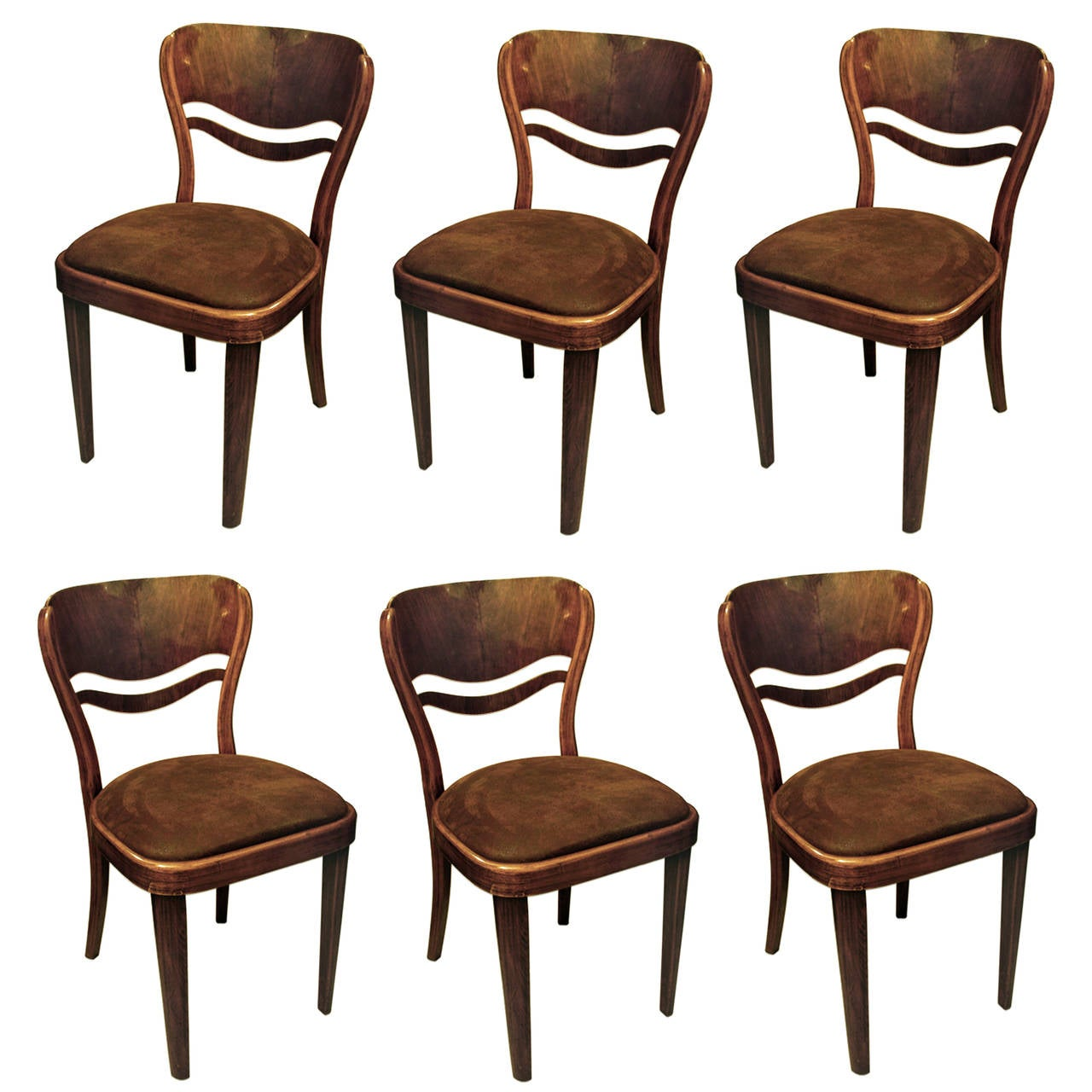 set of six dining chairs for sale infant beach chair thonet room at 1stdibs