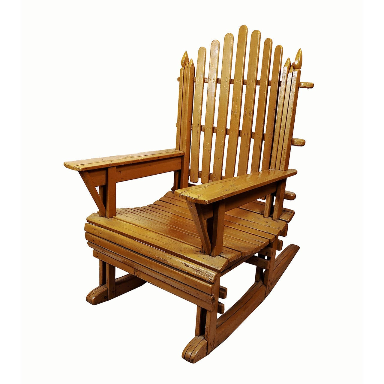 Wood Adirondack Chairs Pair Of Vintage Painted Wood Adirondack Rocking Chairs At