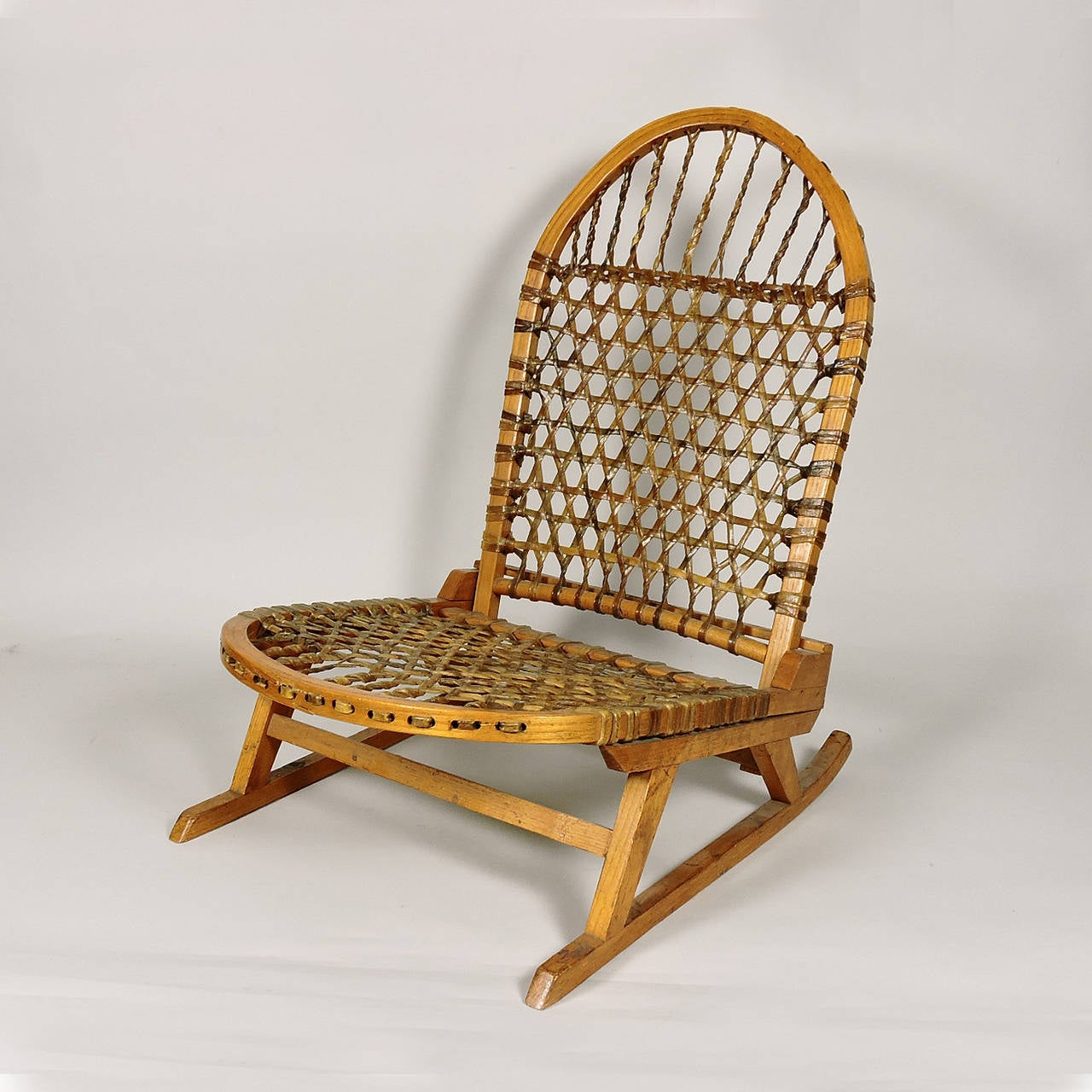 canoe chair white arm chairs pair of vintage tubbs portable snowshoe at