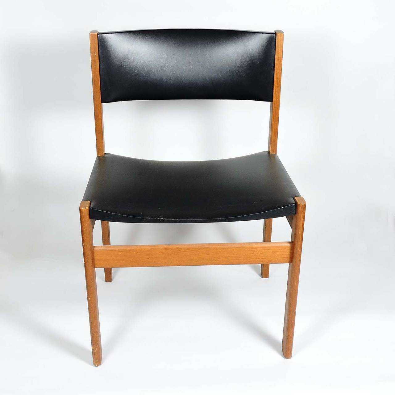 leather dining chairs modern your zone flip chair mint set of four danish mid century teak and by g p