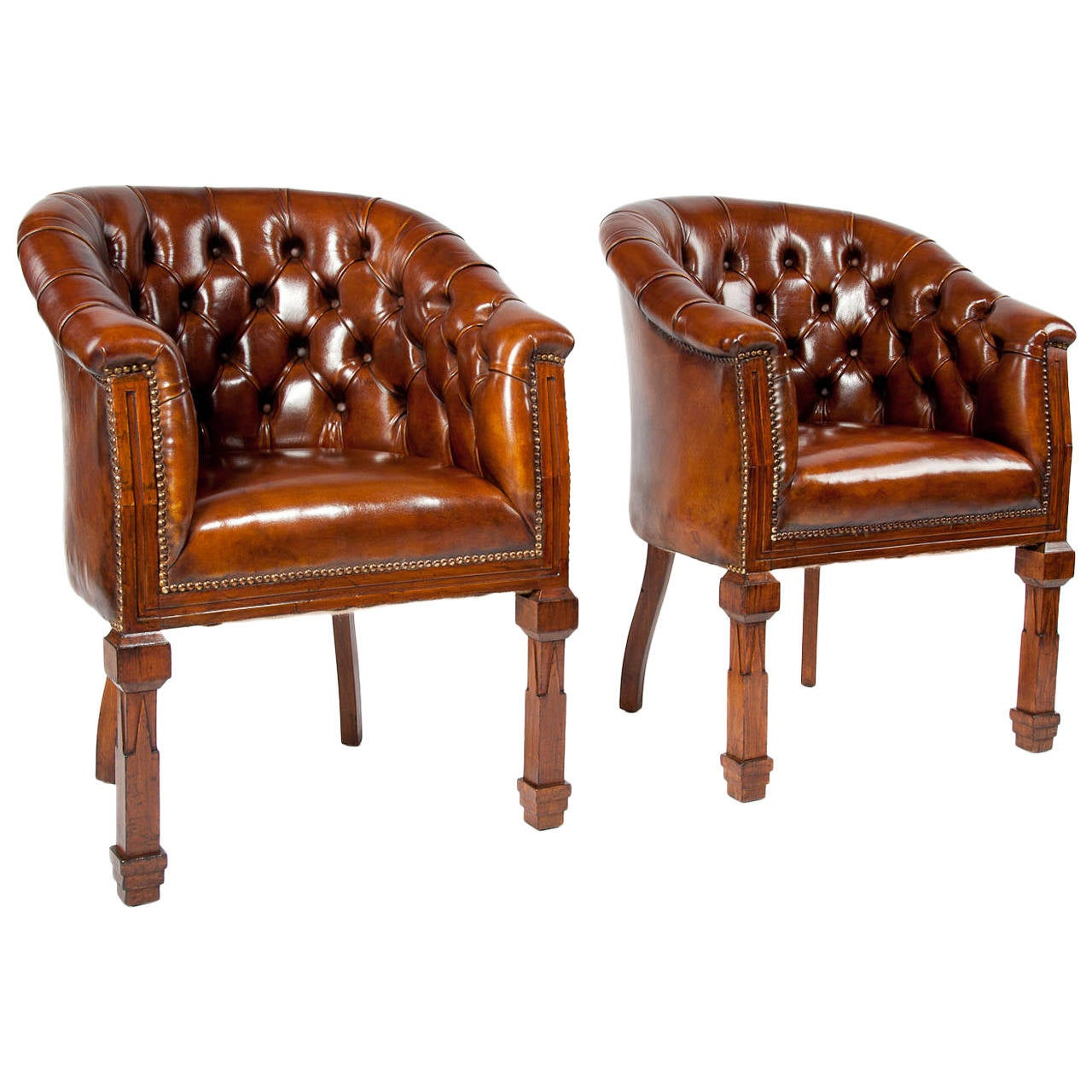 tub chair covers for sale osaka massage antique pair of leather chairs at 1stdibs