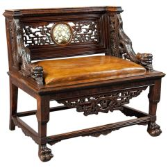 Antique Chinese Dragon Chair Fishing Bed Argos Carved Throne Seat At 1stdibs