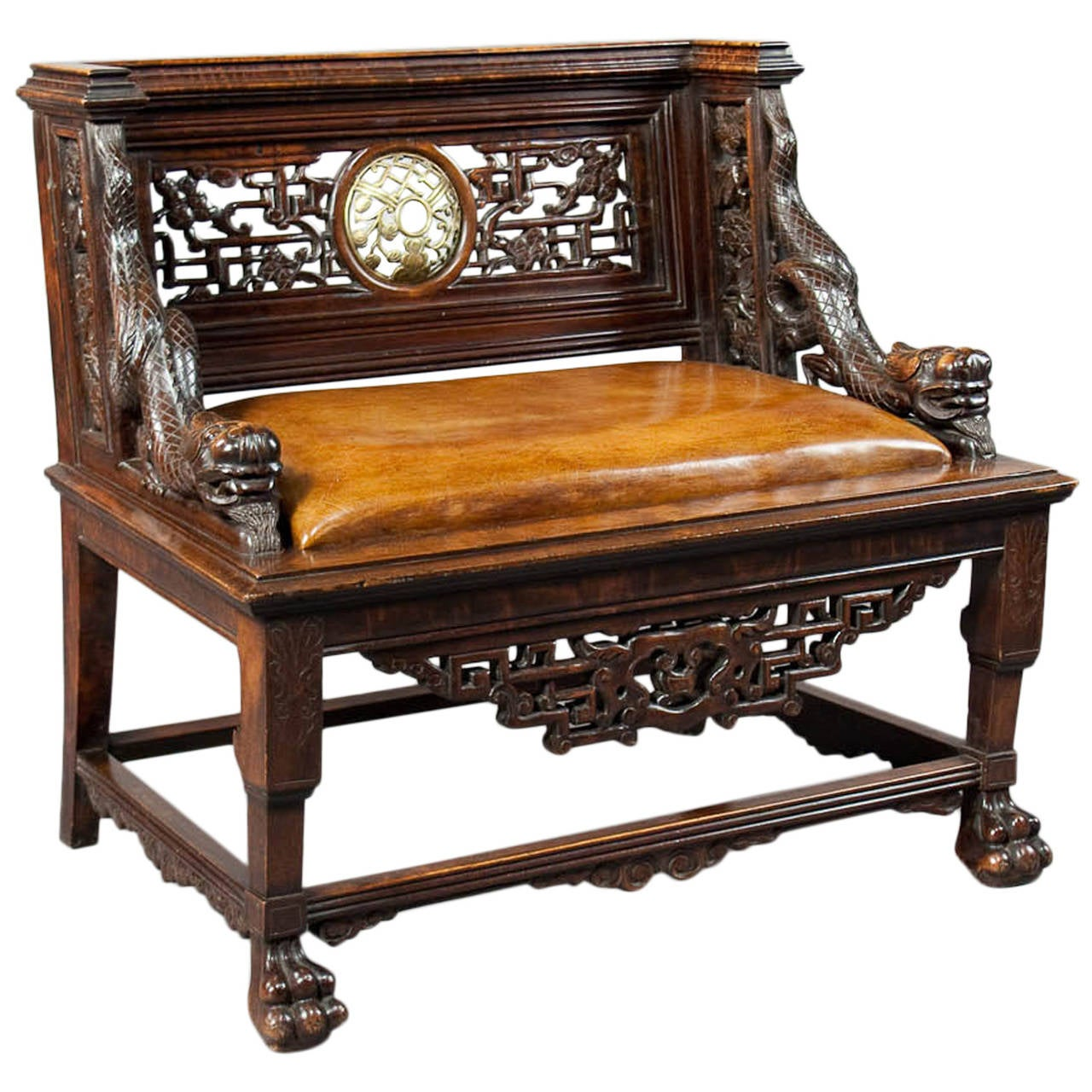Chinese Chair Antique Carved Chinese Throne Seat At 1stdibs