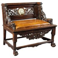 Antique Carved Chinese Throne Seat at 1stdibs