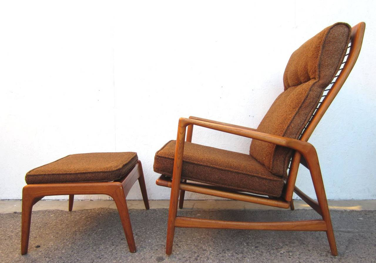 Mid Century Lounge Chair 1950 Danish Mid Century Modern Lounge Chair And Ottoman
