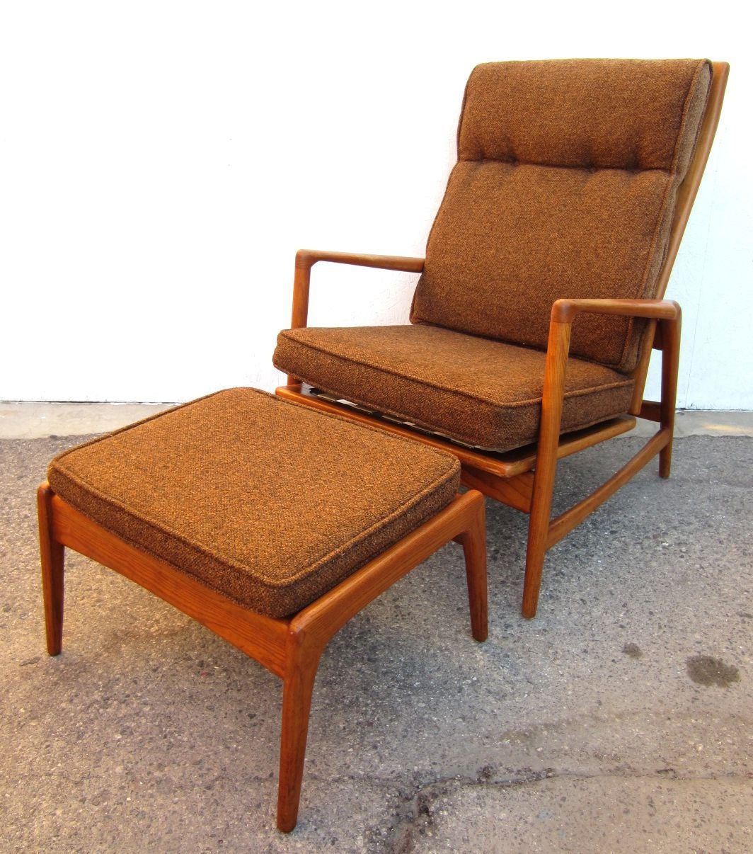 Mid Century Recliner Chair 1950 Danish Mid Century Modern Lounge Chair And Ottoman
