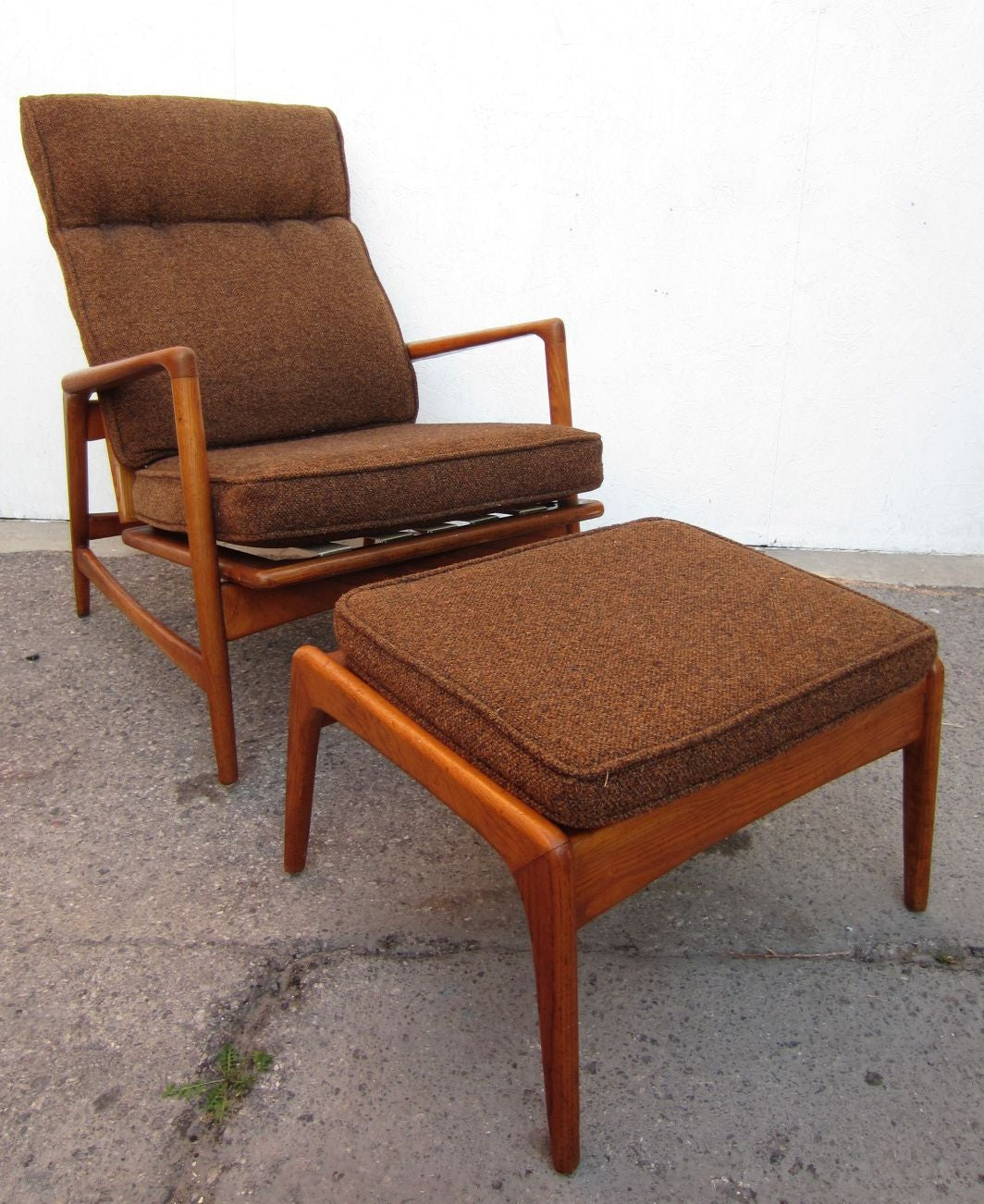 Mid Century Chair And Ottoman 1950 Danish Mid Century Modern Lounge Chair And Ottoman
